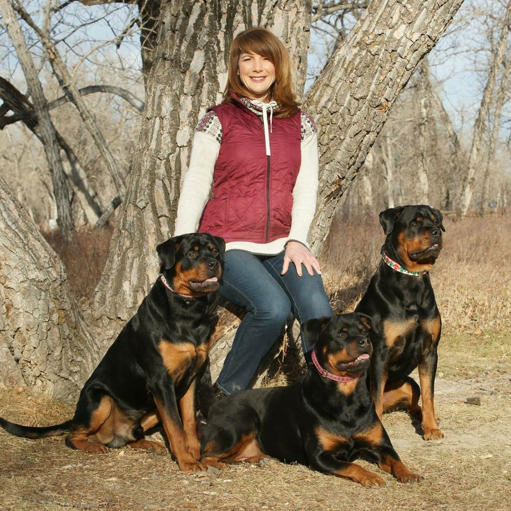 Gwen with Rotties 2017